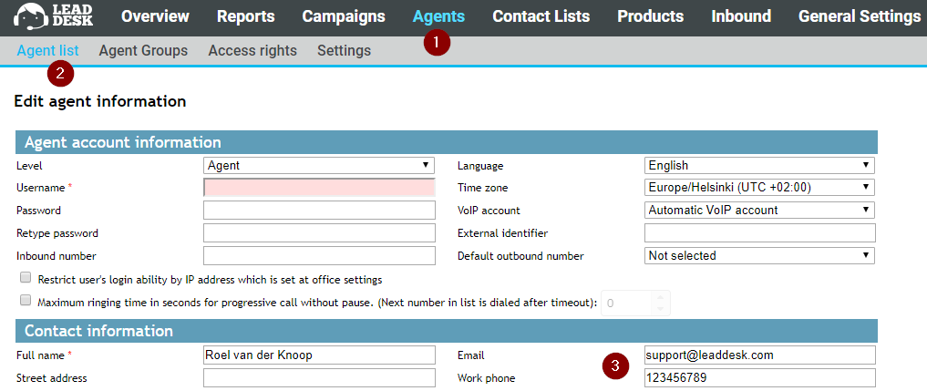 LD Admin - Setting up a voicemail for Inbound route – LeadDesk Support